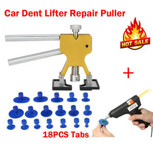 Car Paintless Dent Repair Dint Hail Damage Remover Lifter + Melt Glue Gun Kit