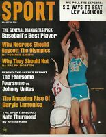 1968 MARCH Sport Magazine College Basketball Lew Alcindor UCLA Bruins No Label