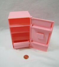 PLAYSKOOL Dollhouse PINK FRIDGE REFRIGERATOR for KITCHEN for Loving Family