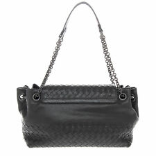 Bottega Veneta Women s Small Madras Intrecciato Flap Shoulder Bag Black cdaa5476a17e4