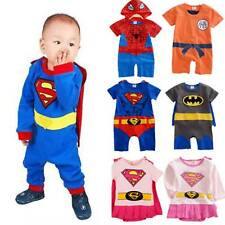 Toddler Infant Kids Baby Boy Girl Superhero Cape Romper Outfits Jumpsuit Fancy