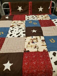 Sweet Jojo Designs Wild West Horse Cow Boy Kids Teen Full Size Bedding Set NWOT