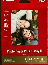Canon Photo Paper Plus Glossy II, 5 x 7 Inches, 20 Sheets Boxed