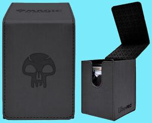 ULTRA PRO MTG MATTE BLACK ALCOVE MANA SWAMP FLIP DECK BOX Card Storage Case