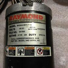 Raymond Ba3644 5572 7 10 Gear Head Drive Motor 48 Vdc 60 Day Warranty