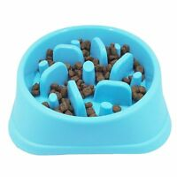 Plastic Slow Feed Dog Bowl Food Feeder Interactive Stoping Bloat Pet Bowl O5E6