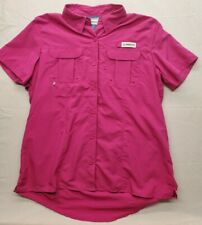 New listing Magellan Outdoors Tee Shirt Women's Large Fishing Gear Relaxed Fit Pink