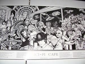 SCIENCE FICTION MOVIE POSTER Sci-Fi Cafe Howard Teman