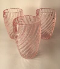 Set Of 3 SIMPLY SHABBY CHIC PINK GLASS Cups