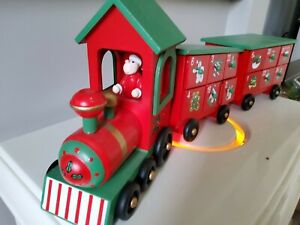 Christmas Wooden Train Advent Calander