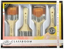Royal & Langnickel Large Area Brush Set - Gold (Pack Of 12)