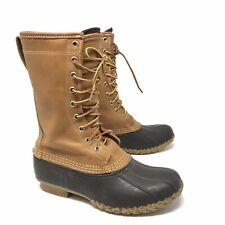 "LL Bean Womens Size 7 11"" Waterproof Cruiser Boots Gortex Thinsulate Brown Tan"