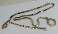 """Watch Fob Chain 17.75"""" Vintage Antique Gold Filled etched"""