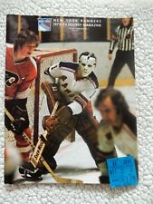 NEW YORK RANGERS program-11-7-1973 vs.BOSTON BRUINS --w/STUB