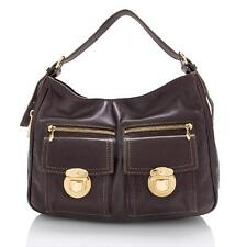 NEW $850 Marc Jacobs LISA Hobo Brown leather polished Gold hardware NEW Gorgeous