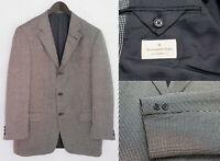 Herren Ermenegildo Zegna Jacke Blazer Weiche Seide Wolle XL IT54 US UK 44 QBA952