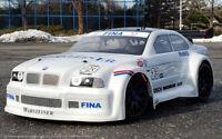 "0137 - Carrozzeria RC scala 1/8 Car Body ""BMW M3 "" + SPOILER/ALETTONE"