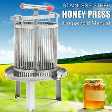 New listing Us Stainless Steel Household Manual Honey Press Wax Press Beekeeping Tool
