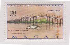 (Jd-64) 1975 Macao 20a Macao Taipa Bridge Muh
