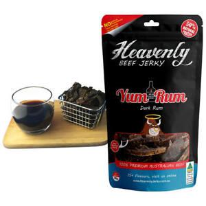 DARK RUM JERKY - YUM RUM - 100% Premium Aust Dried BEEF JERKY - 85g 100g 1kg