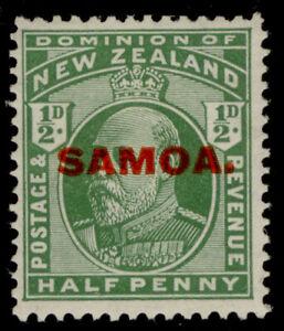 SAMOA GV SG115, ½d yellow-green, M MINT.