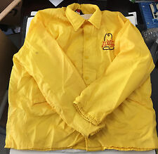 Vtg Arbys Restaurant Fast Food Yellow Jacket Sz L 44 to 46