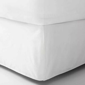 New White Bed Skirt King Size 78 in X 80 in 14 in Drop Room Essentials