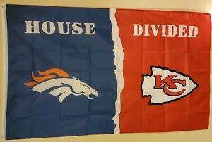 Kansas City / Denver House Divided 3 x 5  Flag # 219