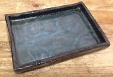 Louis Mideke Art Pottery Tray Sea Blue Green Black Ocean Sea Bellingham WA SUPER