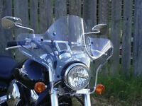Slipstreamer - SS-20-C - SS-20 Stealth Windshield w/ 1 in Hardware, Clear SS20C