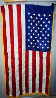 "American 50 Star USA Sewn & Embroider Flag Approx 62 x 32"" & Eagle Pole ornament"
