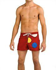 Baskit Dots Board Shorts, Red (small 28-30)
