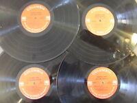 LOT: 4 VINYL RECORDS CRAFTS DECORATIONS JOHNNY CASH COLUMBIA 2 EYE STEREO/MONO