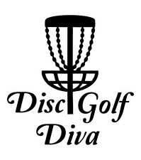 Disc Golf Vinyl Sticker Decal Disc Golf Diva