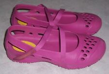 SKECHERS Cali Gear Womens Size 7M Pink Rubber Mary Janes Cross Strap Shoes