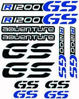Adventure Fairing R1200GS Vinyl Stickers Decals Kit BMW Motorrad GS Blue /156
