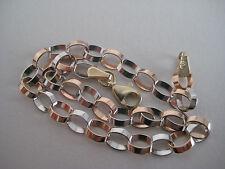 Gold bracelet 9 carat white & rose gold links