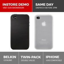Belkin 2-Pack iPhone 4 Pattern Black White Silicone Case Sleeve Cover Twin Pack
