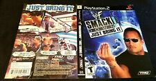 WWE WWF SmackDown Just Bring It Playstation 2 PS2 Case insert cover art no game