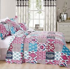 Luxury Super King Size Bedspread Set Quilt Comforter Coverlet With Pillow Shams