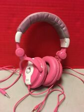 Hello Kitty Used Pink Headphones Sanrio Tested Works
