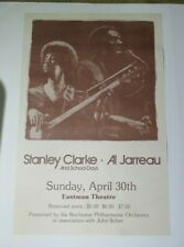 ! Stanley Clarke & Al Jarreau-School Days Concert Poster - Rochester Ny Eastman