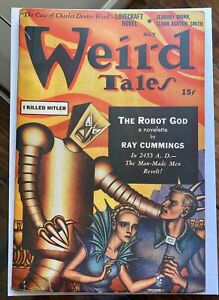 Weird Tales March 1941 Pulp Vol. 35 #1 - 'I Killed Hitler' Robot Cover