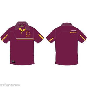 NRL Brisbane Broncos Premium Supporter Collared Polo Dress Shirt