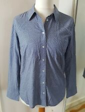 LADIES GAP LIGHT BLUE SPOTTED SHIRT 100% COTTON SIZE S OFFICE / WORK