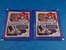 Unopened TRANSFORMERS - GENERATION ONE COLLECTORS STICKERS x2 Packs Hasbro 2003
