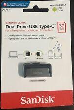 SanDisk Ultra Dual 32 GB USB Type C Flash Drive- High Speed USB 3.1 up to 150 MB