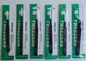 6x Tweezers Stainless Steel Anti-Static Non-Magnetic ESD