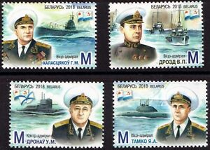 2018. Belarus. Admirals of the Navy born in Belarus. Submarines. Set. MNH