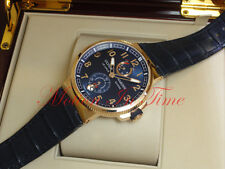 Ulysse Nardin Marine Chronometer Manufacture 43mm RoseGold Blue Dial 1186-126/63